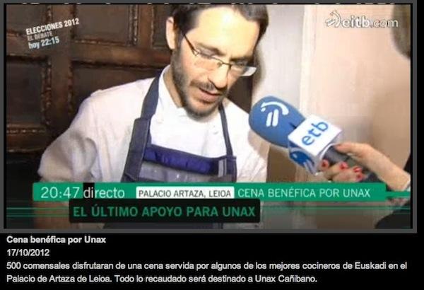 Cena benefica para Unax