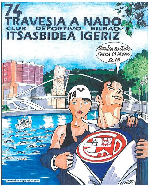 Travesía a nado de la Ría de Bilbao