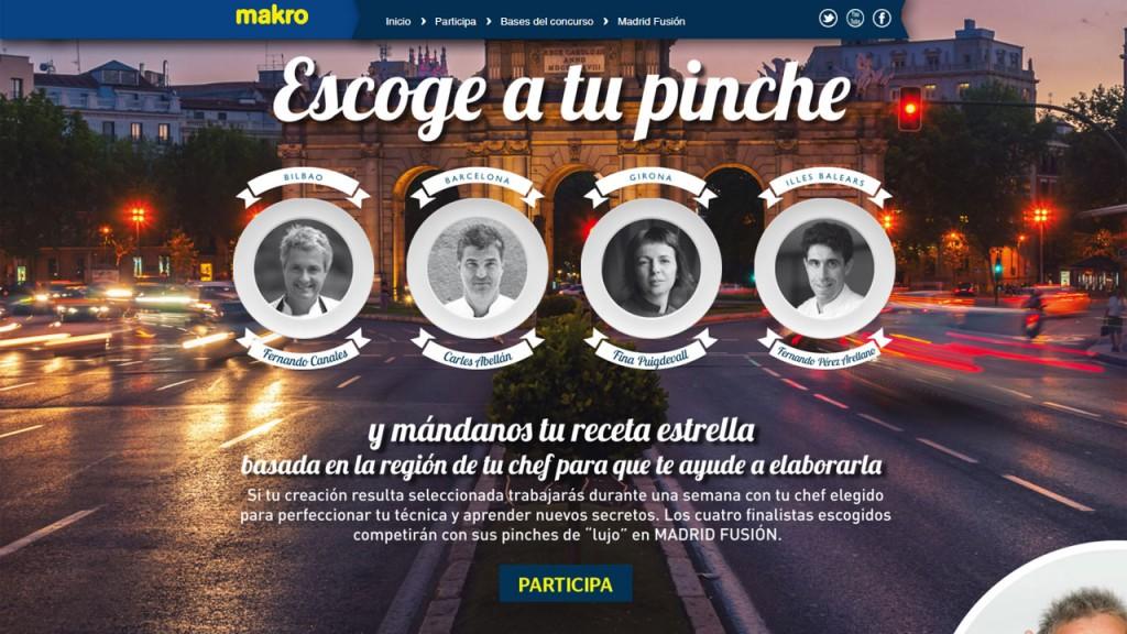 Concurso Escoge tu pinche de Makro en Madrid Fusión 2016